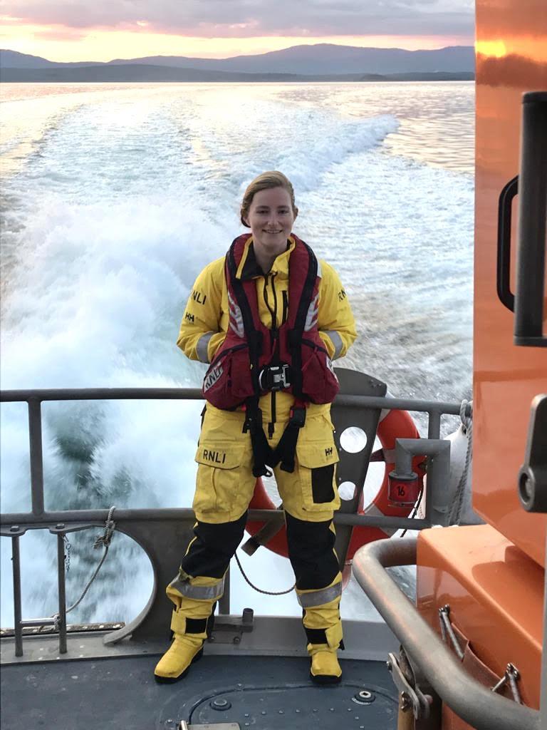 Oban RNLI volunteer crew member and press officer Leonie Mead