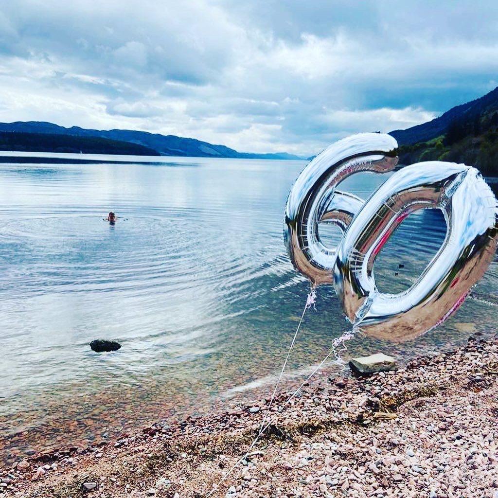 Celebrations at Loch Ness.