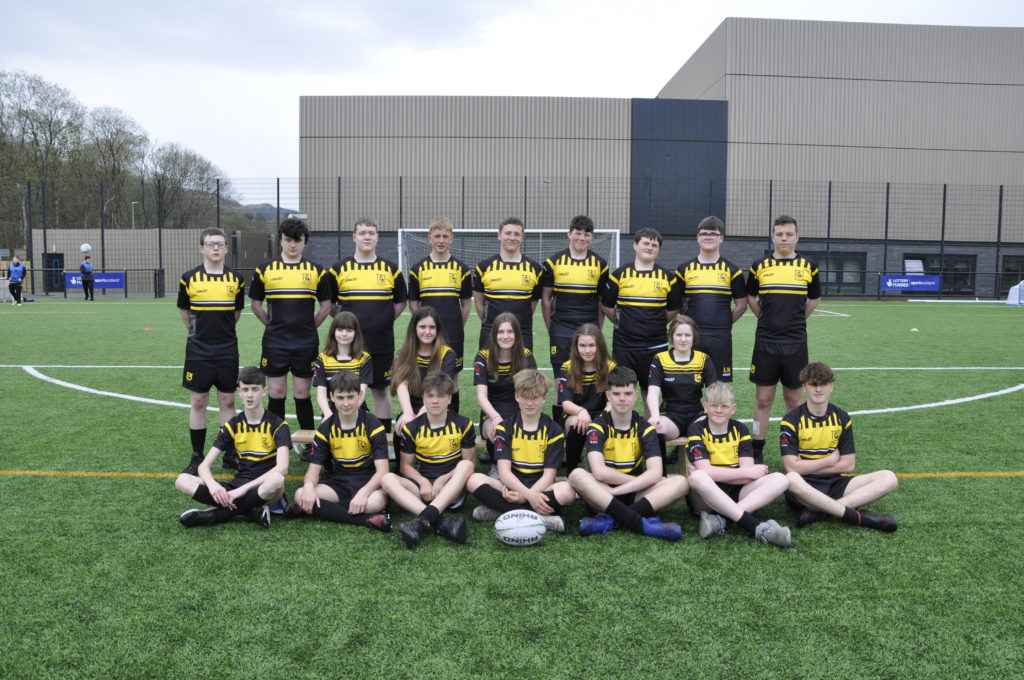 Oban High School of Rugby 2021 S3s.