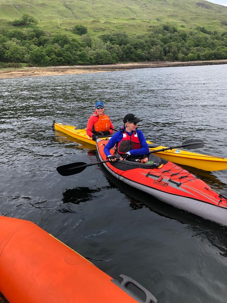 Paddlers at the ready.