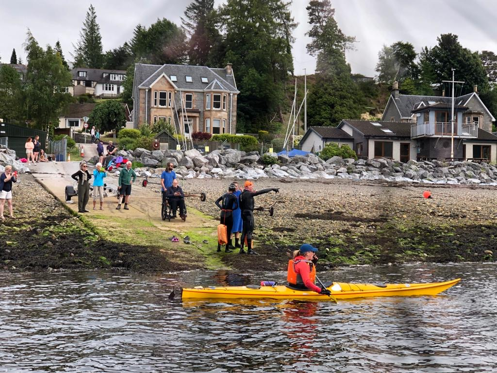 The event attracted some interest on the LYC slipway.