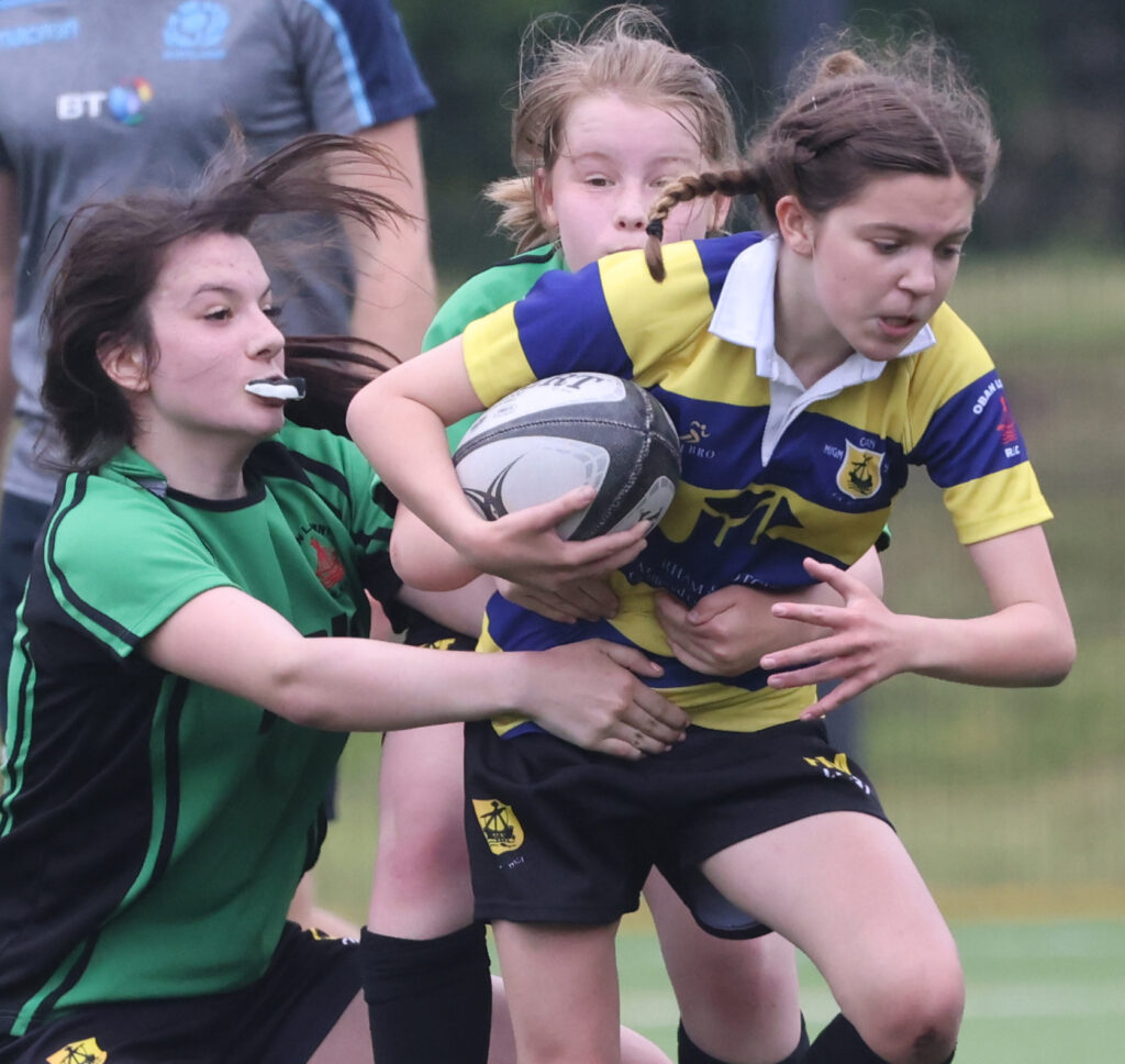 Action from the Bulls v Sharks Under 14's game.