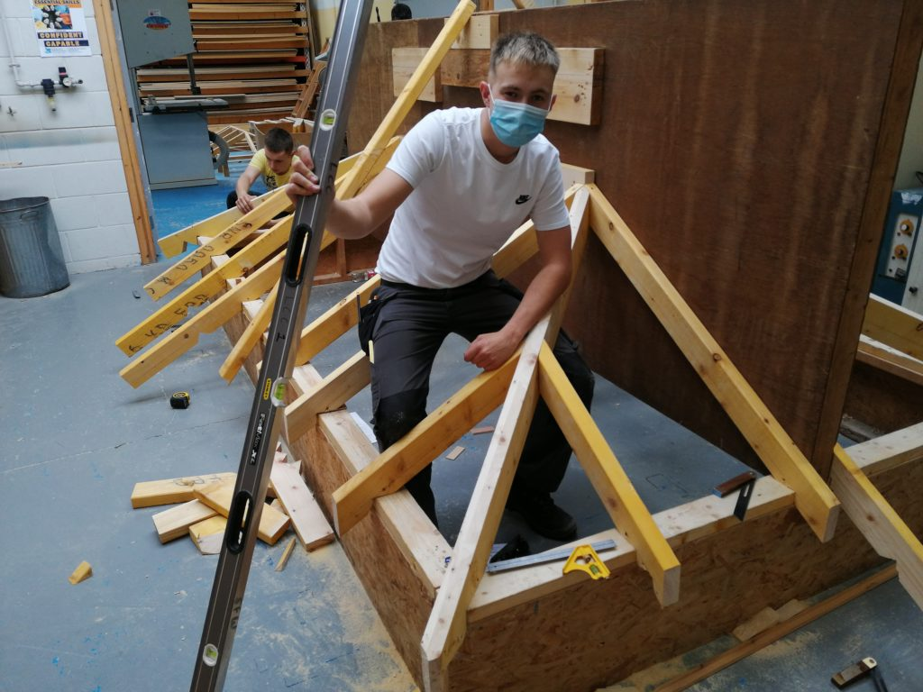 Joinery students at Lews Castle College UHI learn highly sought after construction skills.