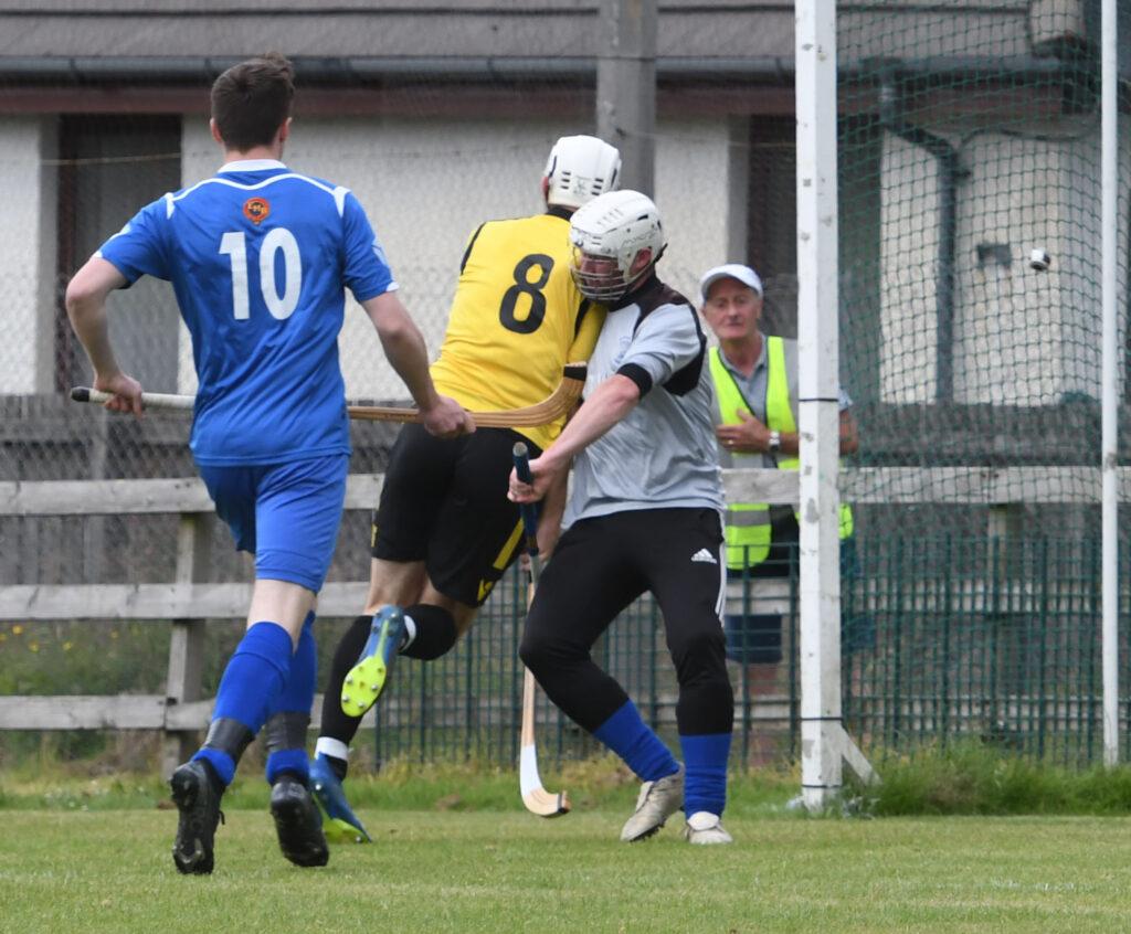 Arran MacPhee puts away Fort William's first goal.  Photograph: Iain Ferguson, alba.photos