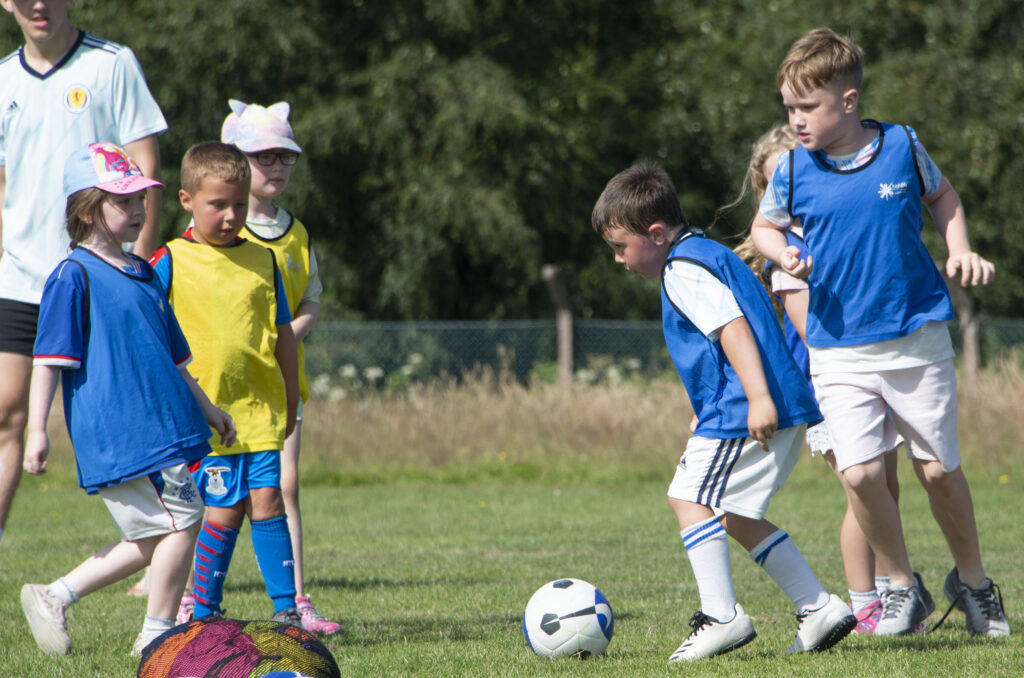 More action from the young players.  NO F31 Spud Footie 04