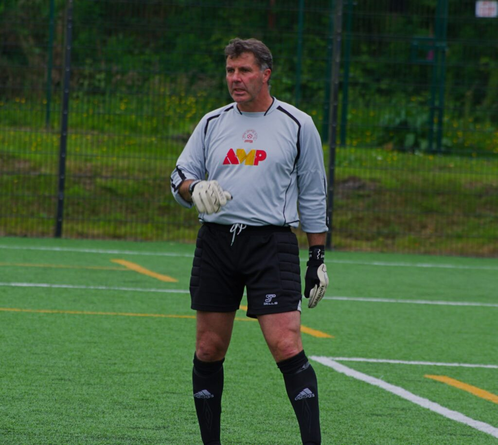 Veteran goalkeeper David Dunlop.