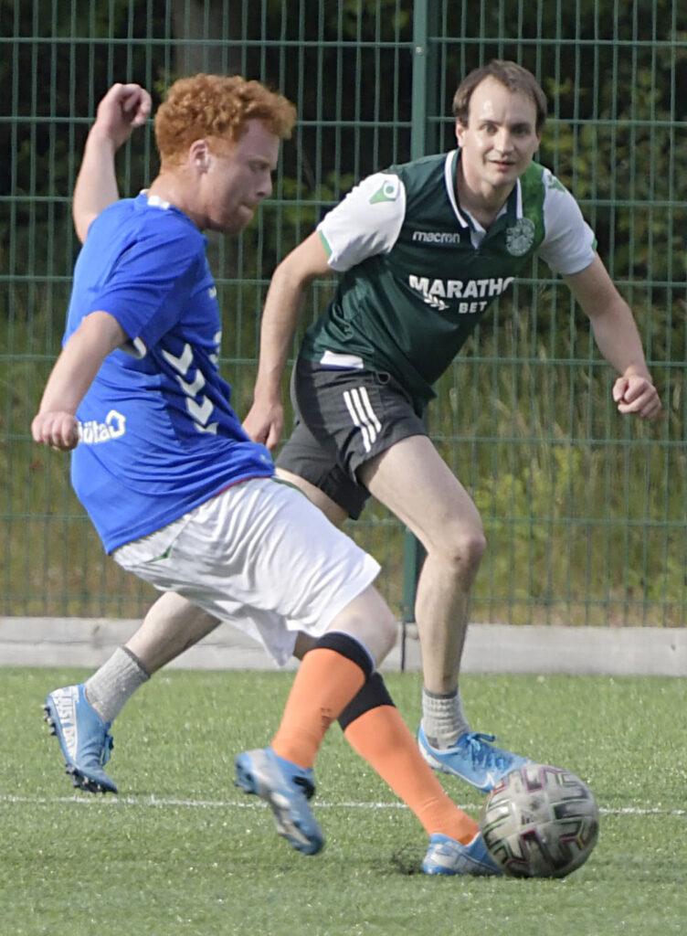 Action from the game. Photograph: Iain Ferguson, alba.photos.