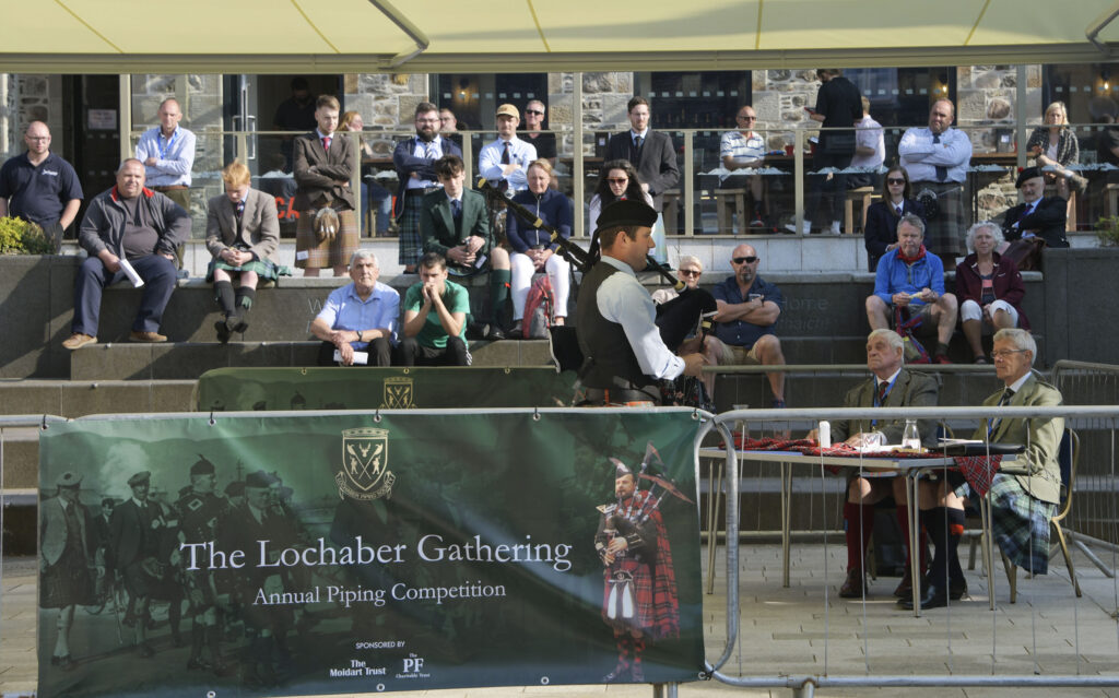 The sun-soaked Cameron Square provided a great outdoor venue for competitors and spectators. Photograph: Iain Ferguson, alba.photos  NO F36 Lochaber Gathering 05