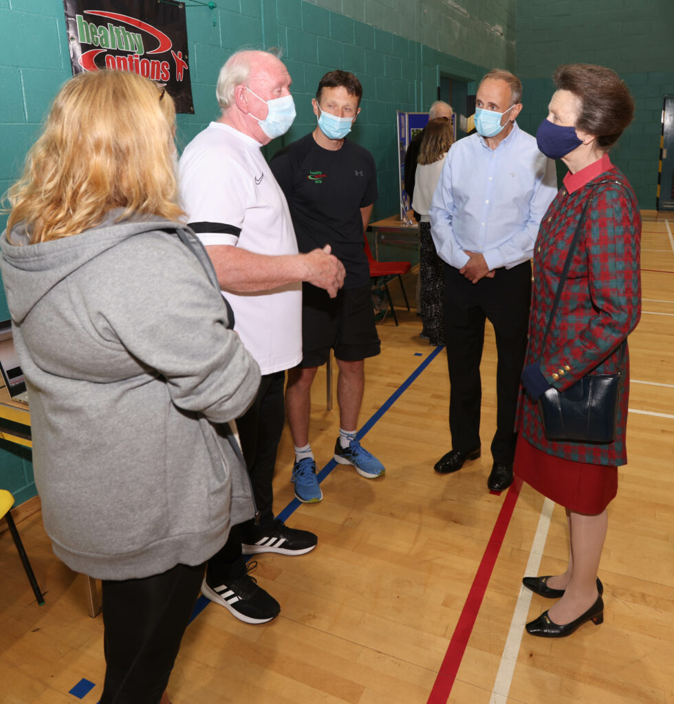 Willie Gemmill and Roy Clunie from Healthy Options chat to the Princess.