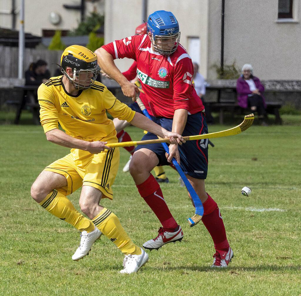 Fraser Watt, Inveraray, and Cian MacPhee, Ballachulish, in action. Photograph: Stephen Lawson.