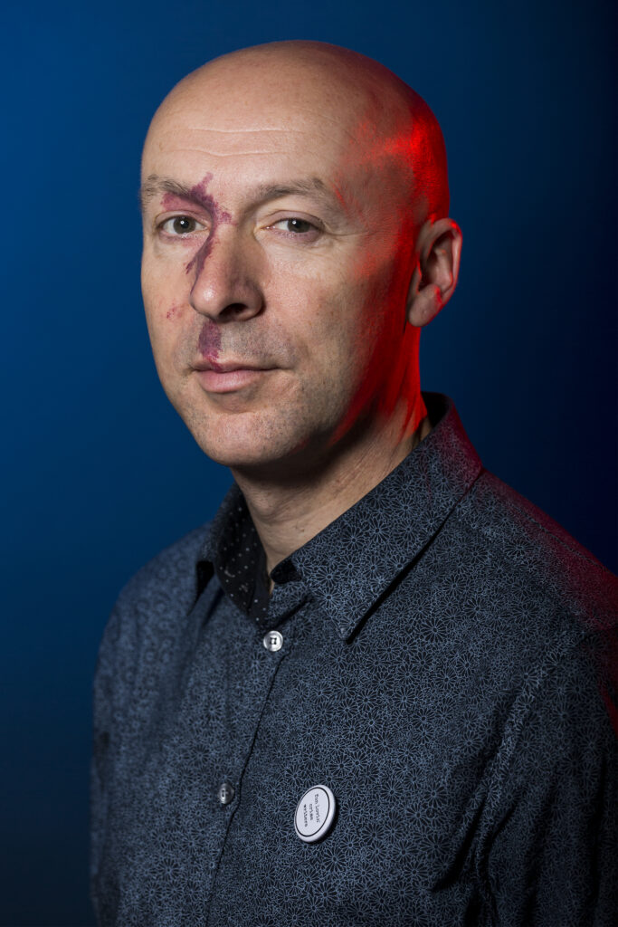Chris Brookmyre photographed at The Golden Lion Hotel at Bloody Scotland, Scotland's International Crime Writing Festival  in Stirling in 2017. Photo by Paul Reich.