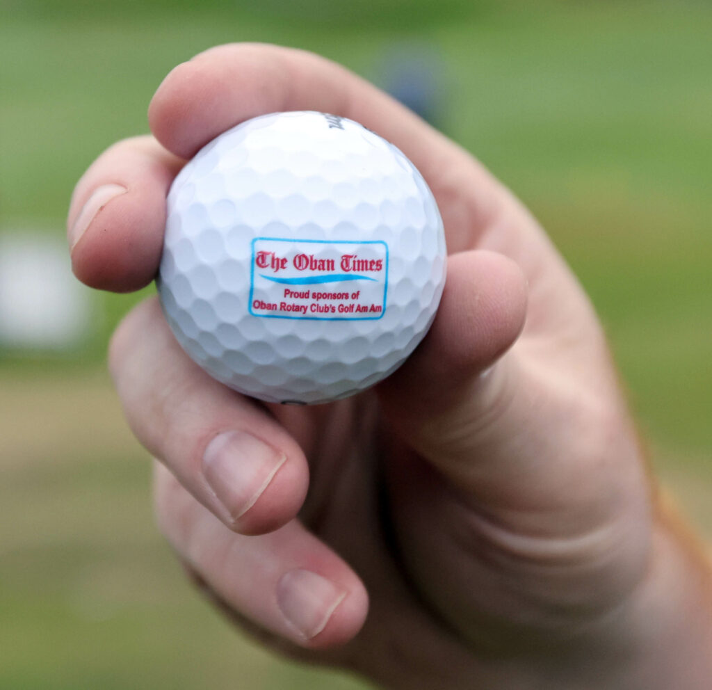 Every player received a complimentary Oban Times golf ball.