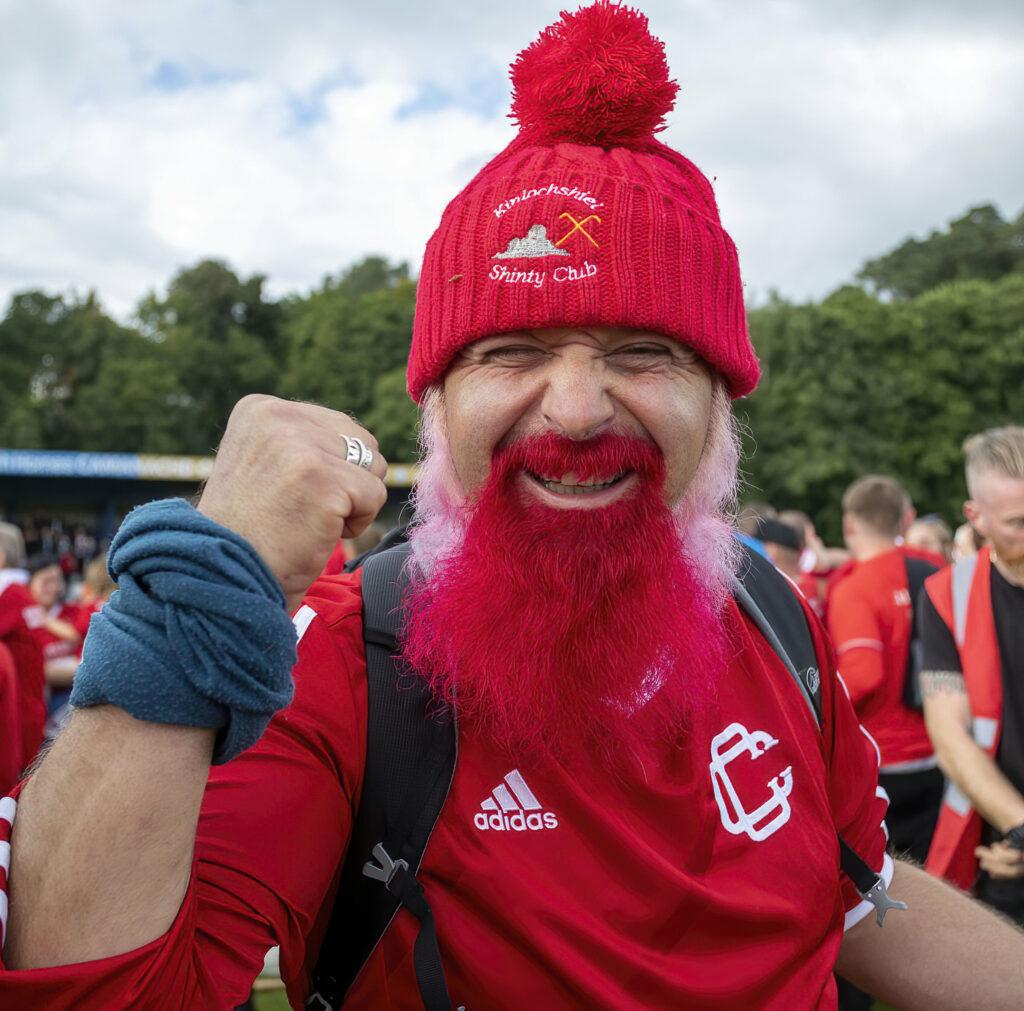 One very happy Kinlochshiel fan. Photograph: Stephen Lawson.