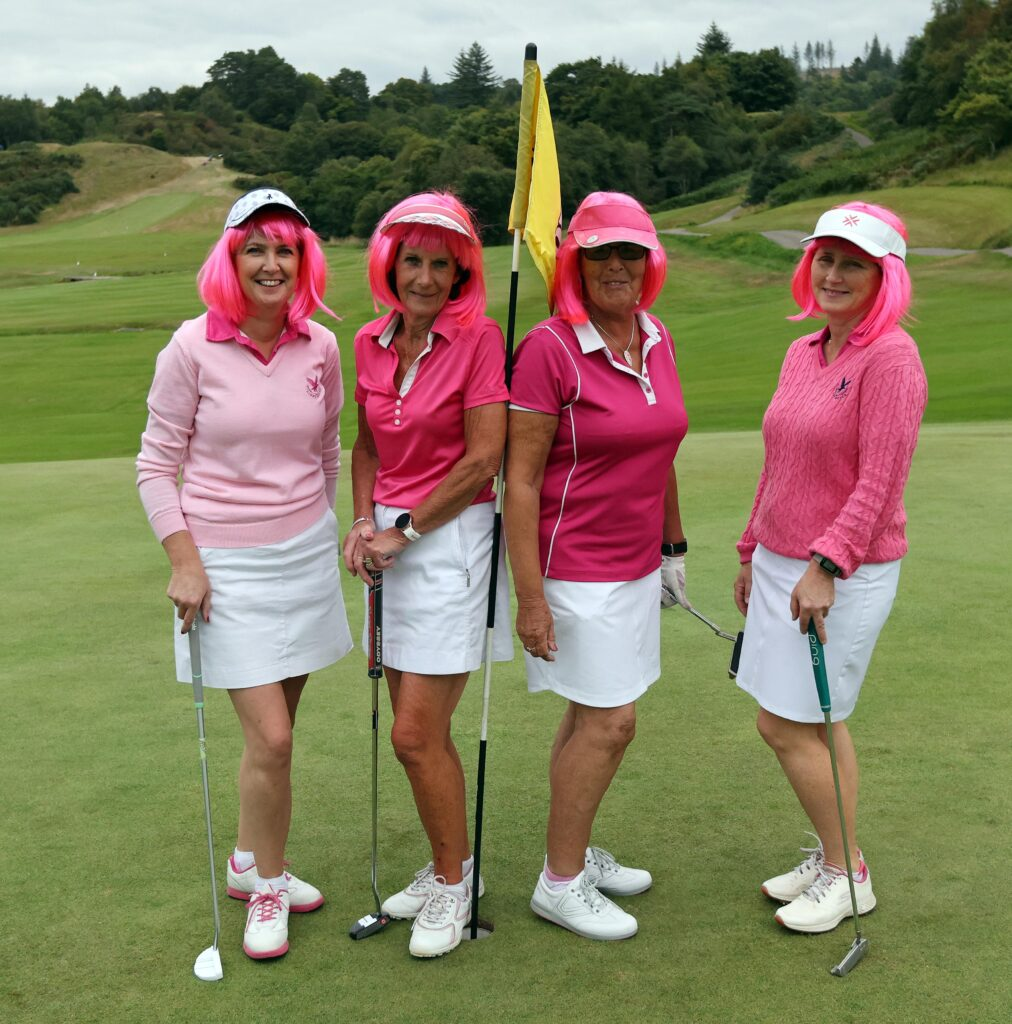 This fab four added a touch of glamour to the golf day. Photograph: Kevin McGlynn