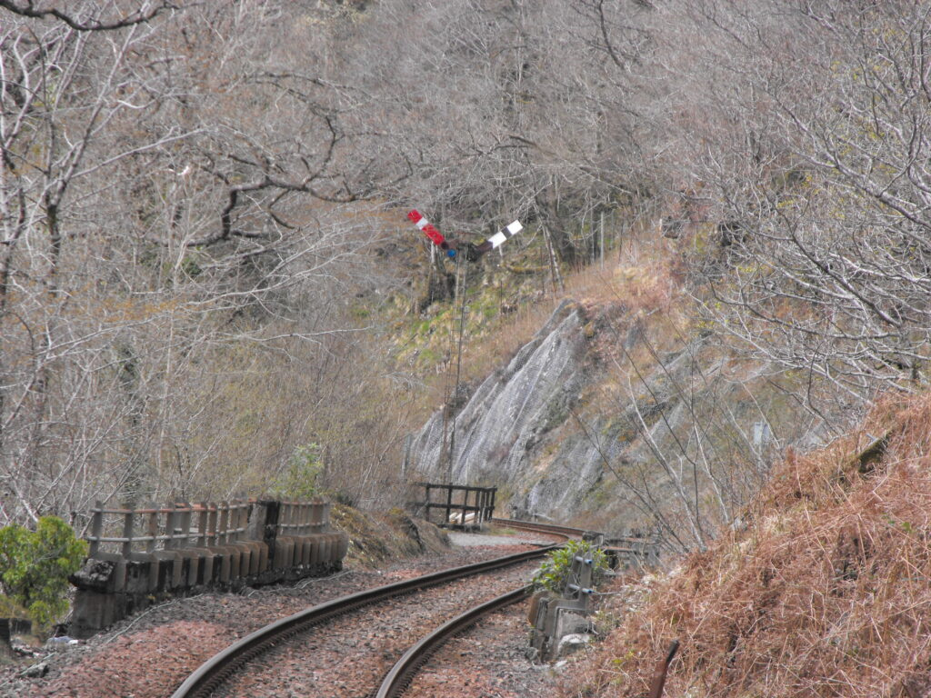 One of the signals near Falls of Cruchan station. Photographs: Graham Atkins
