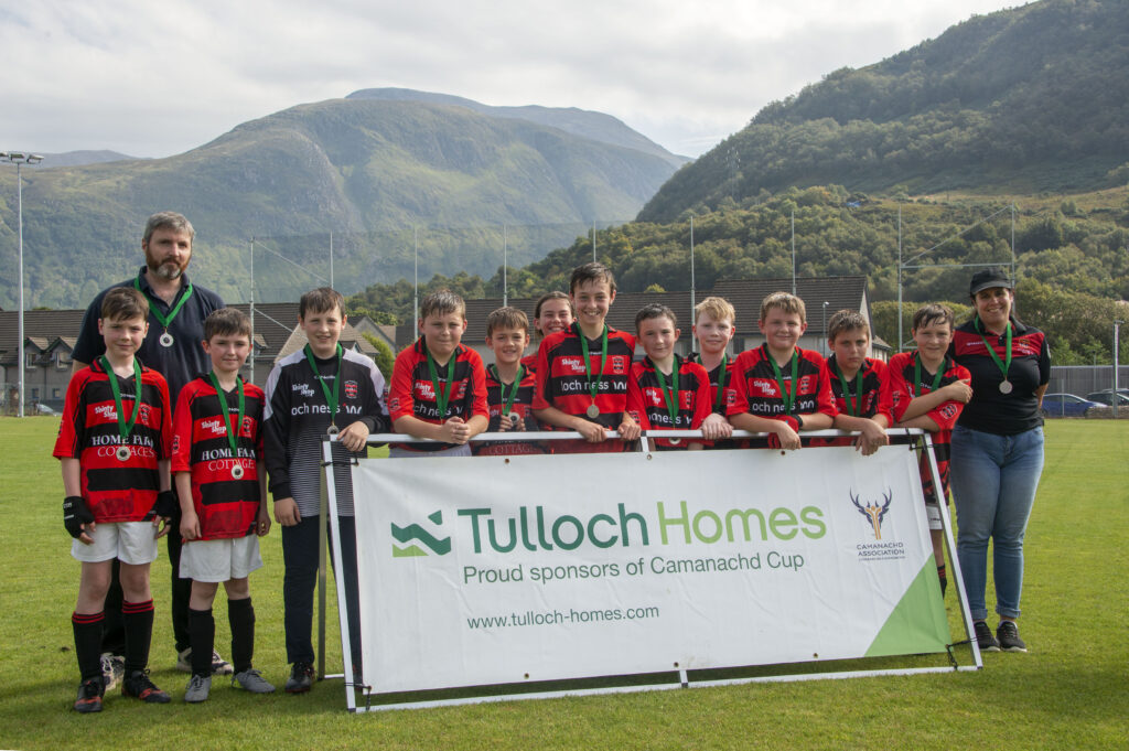 The GlenUrquhart/Balnain team  who were silver medallists in the Tulloch Cup Final held at An Aird, Fort William last week.  Photograph: Iain Ferguson, alba.photos