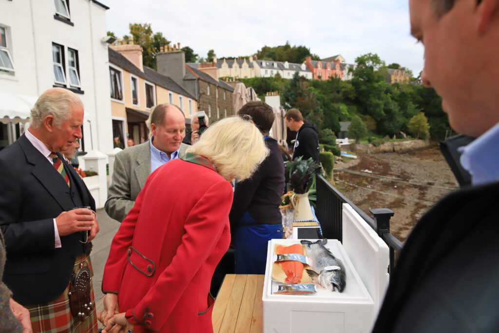 The Duke and Duchess were introduced to Organic Sea Harvest staff  outside the Rosedale Hotel.