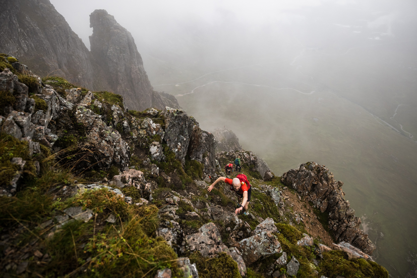 Conditions were challenging on day two of Salomon Skyline Scotland 2021 - copyright No Limits Photography.