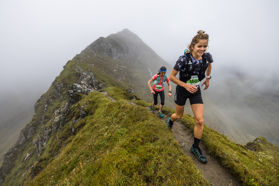 Elsey Davis in action at the 2021 Ring of Steall Skyrace - copyright No Limits Photography.