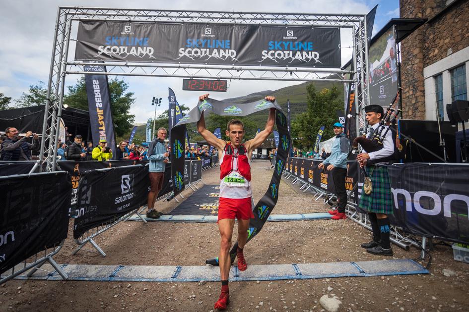 Sebastian Batchelor wins the 2021 Ring of Steall Skyrace at Salomon Skyline Scotland - copyright No Limits Photography.