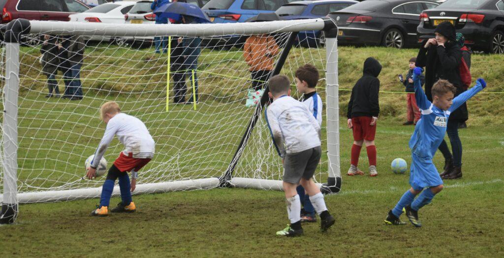 Goal celebrations for Tarbert.