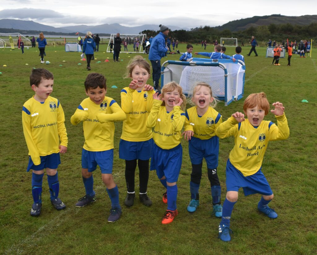 Lochnell Leopards were ready to pounce at Saturday's Football Festival.