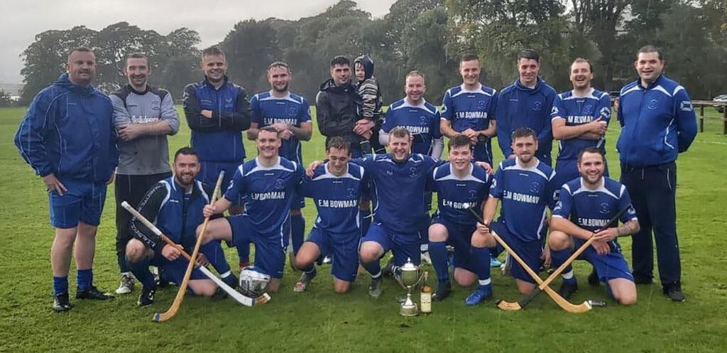 The victorious Kilmallie shinty team with the BSW Cup. Photograph: Iain Ferguson,alba.photos