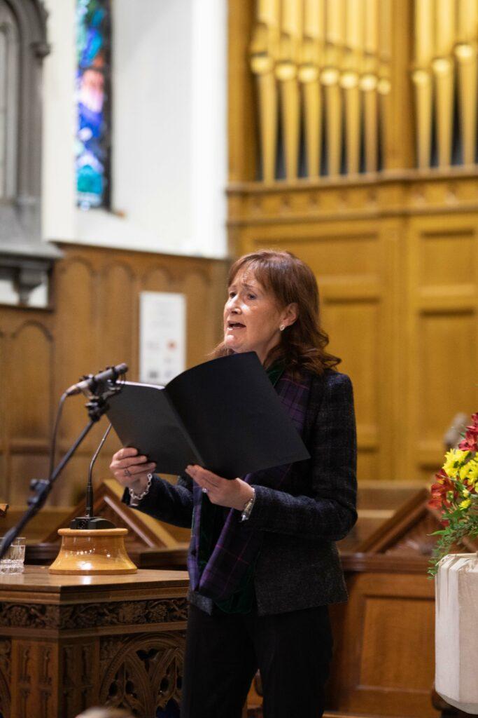 Kristine Kennedy (Cairistiona Cheanadach) sings at The Royal National Mòd, 2021 Annual Church Service