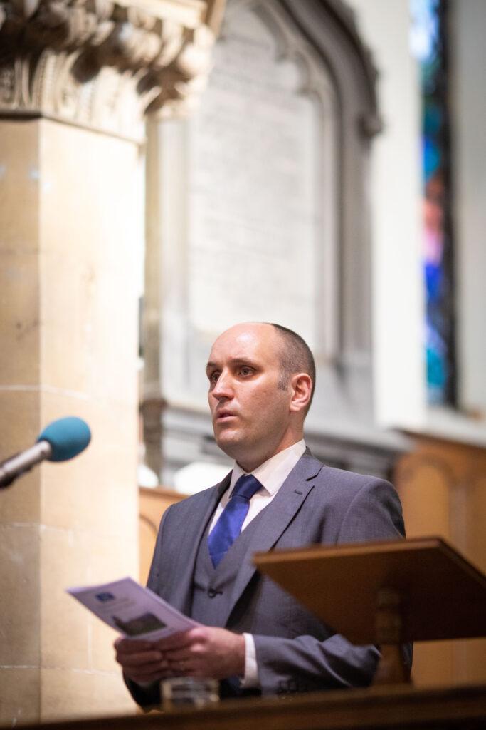 Calum Alex Macmillan (Calum A MacMhaolain ) sings at The Royal National Mòd, 2021 Annual Church Service