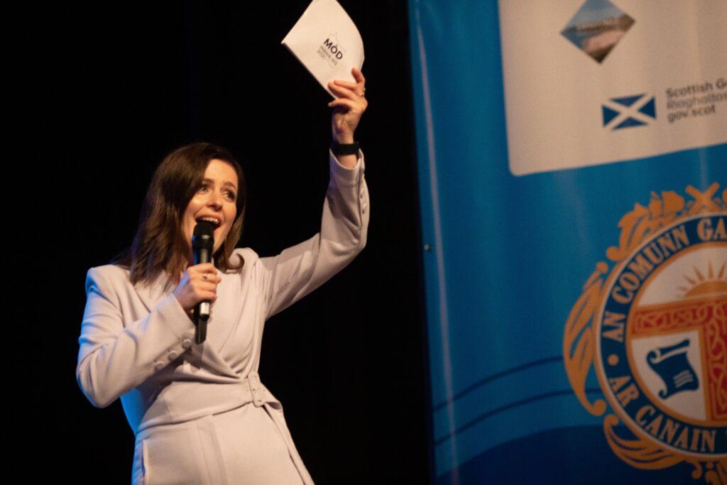 Presenter Ellen MacDonald opens The Royal National Mòd 2021 in Inverness