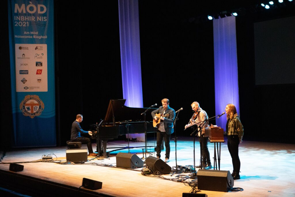 New Glasgow traditional music outfit, Staran, open The Royal National Mòd 2021 in Inverness with a live performance at Eden Court Theatre,