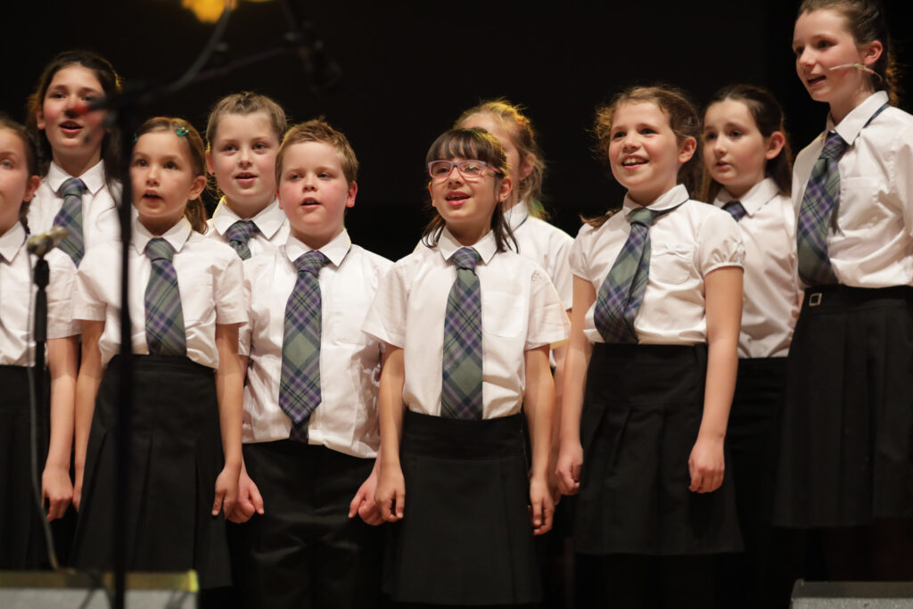 Picture shows Choir from Bun-sgoil Ghàidhlig Inbhir Nis, the Highland's first designated purpose-built all Gaelic school.  performing on stage  at the special Our Language, Our Music concert will feature an all-star line-up of guest musicians.
