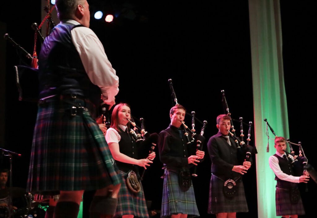 Picture showsHighlife Highland Pipers performing on stage  at the special Our Language, Our Music concert will feature an all-star line-up of guest musicians.