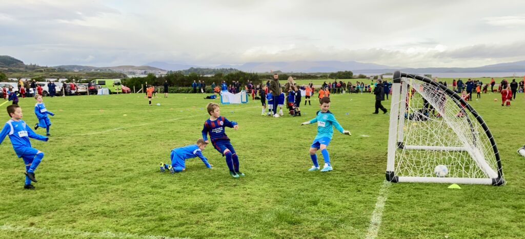 It's a goal for Lochgilphead Red Star 2013s against Tarbert Soccer Centre.