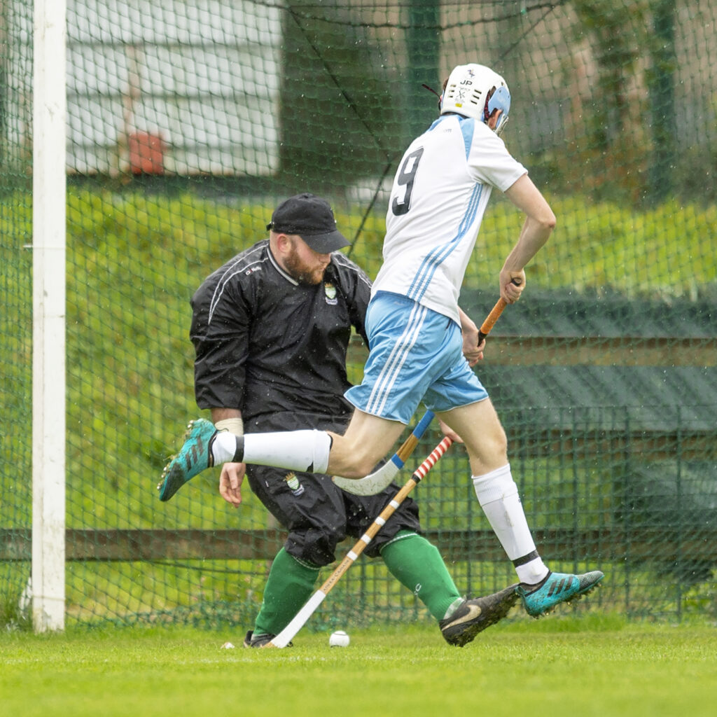 Skye's James Pringle puts the ball past Beauly keeper Mackay Murray. Photograph: Neil Paterson.