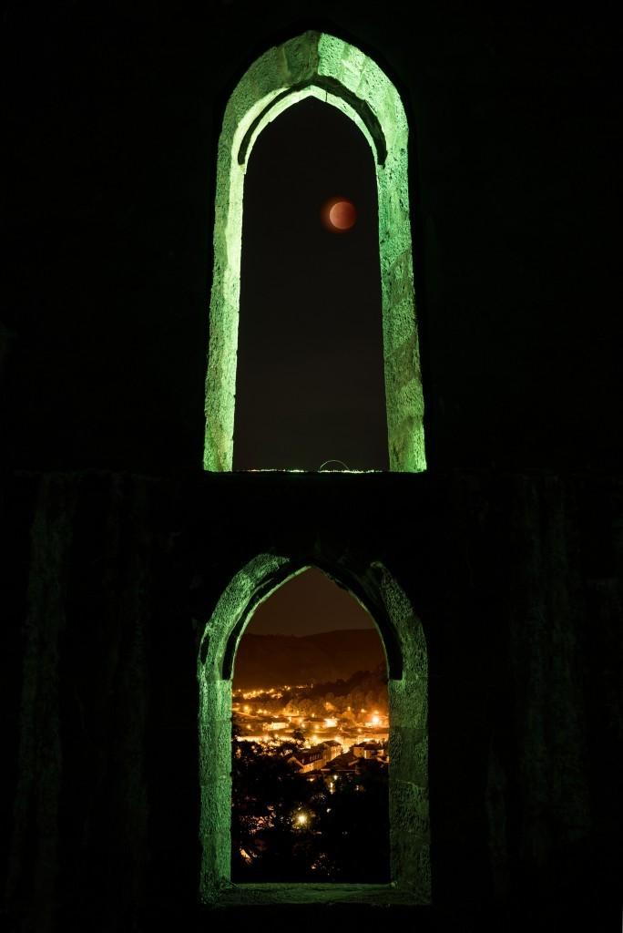 Blood moon over Oban