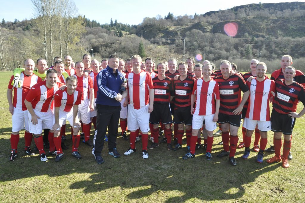 More than £15,000 was raised at charity football event