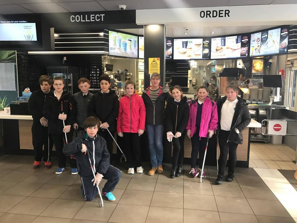 Fast food chain and Fort William pupils unite to keep town tidy