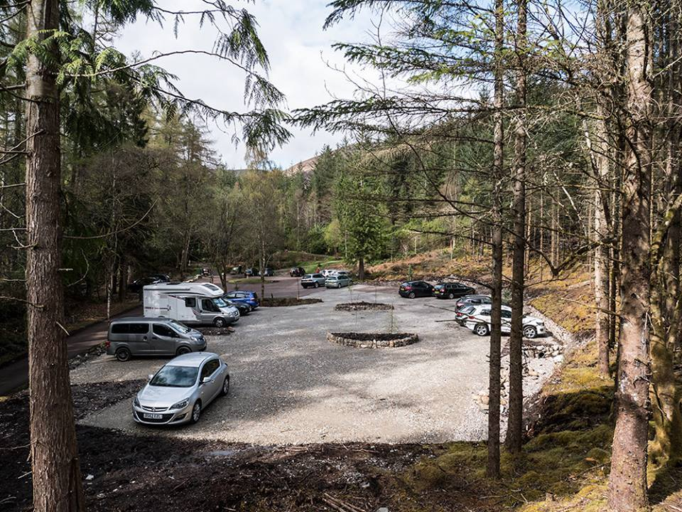 Glencoe Lochan car park extension is now complete