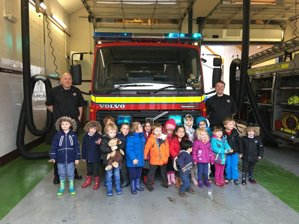Pupils enjoy fire station visit in Kinlochleven