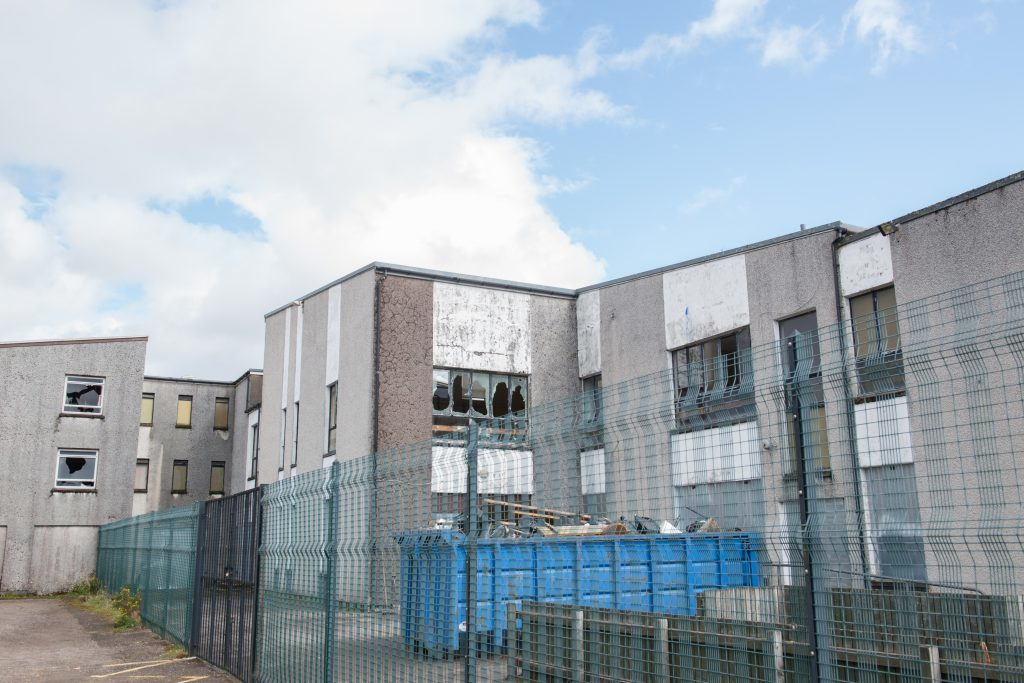 Former Upper Achintore Primary school building secured