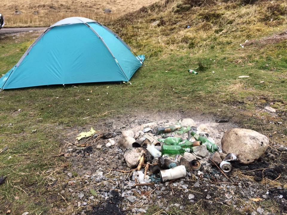 Anger at campers as glen is left litter-strewn