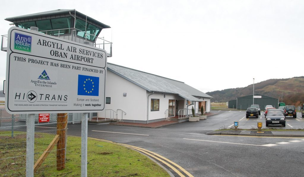 Official probe after drone spotted at Oban airport