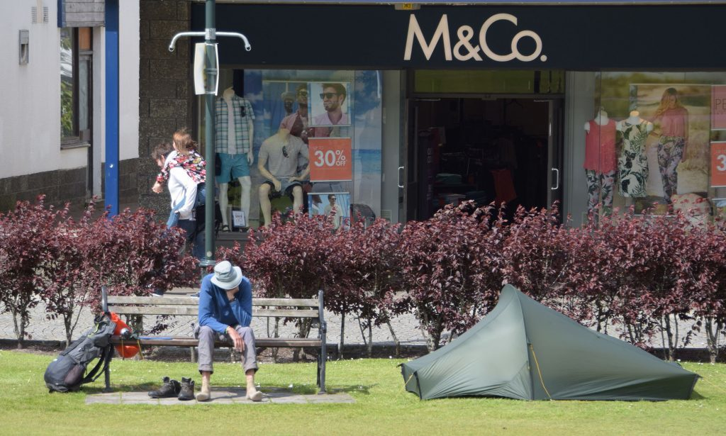 Campers pitch up in Fort William