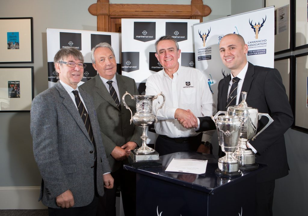 Boost for shinty as Marine Harvest extend sponsorship
