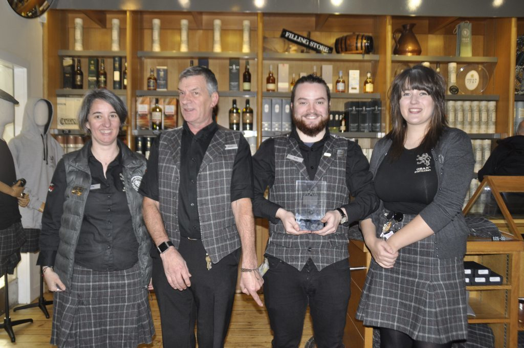 Oban Distillery voted as Best Visitor Experience