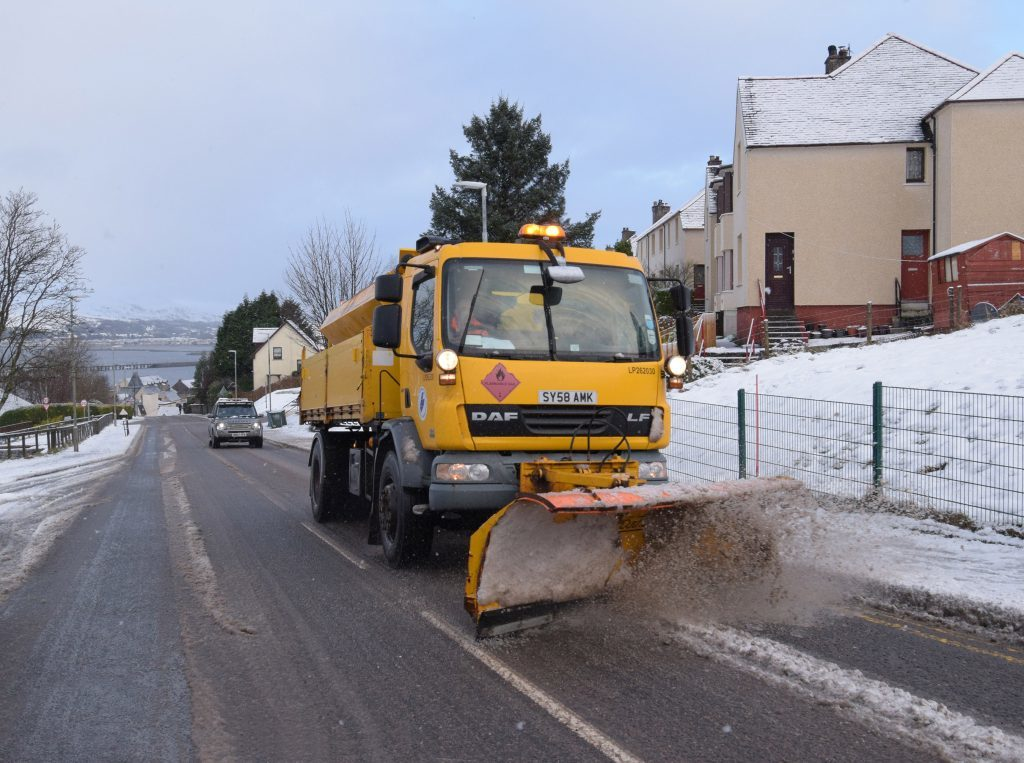 Gritters eat through salt stocks to keep Lochaber moving