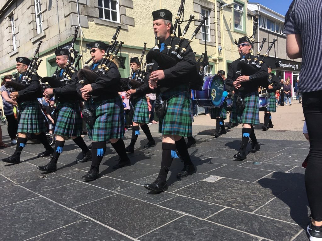 Lewis Pipe Band prepare for Worlds