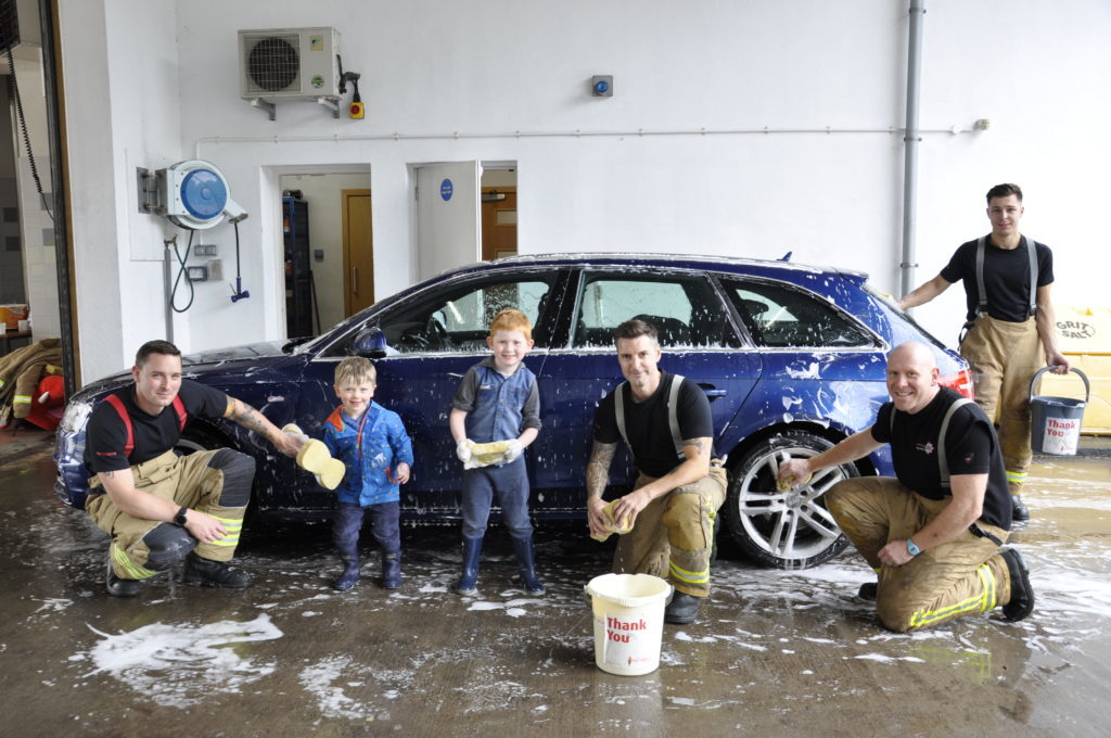 Oban firefighters do their bit for charity