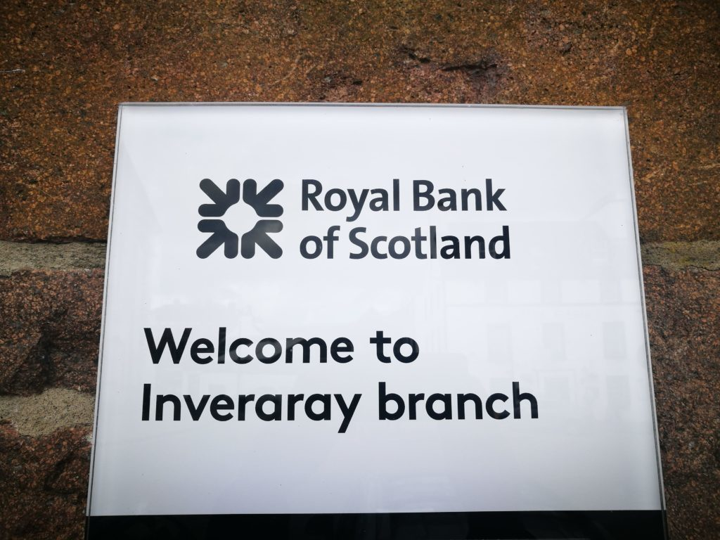 Inveraray and Kyle to lose their RBS branches, as Barra's is saved